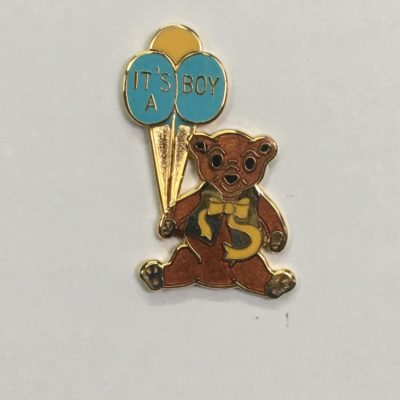 Bear Pin / It's A Boy Balloons