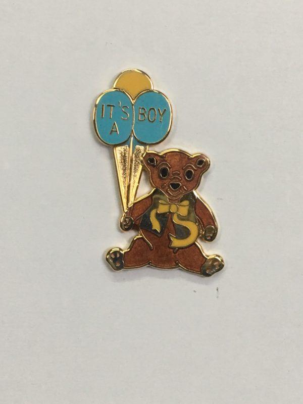 Bear Pin / It's A Boy Balloons
